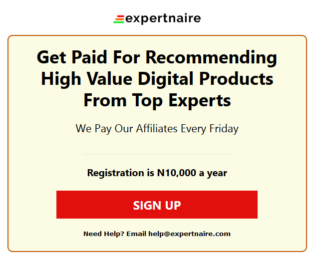 How to register expertnaire affiliate marketing network